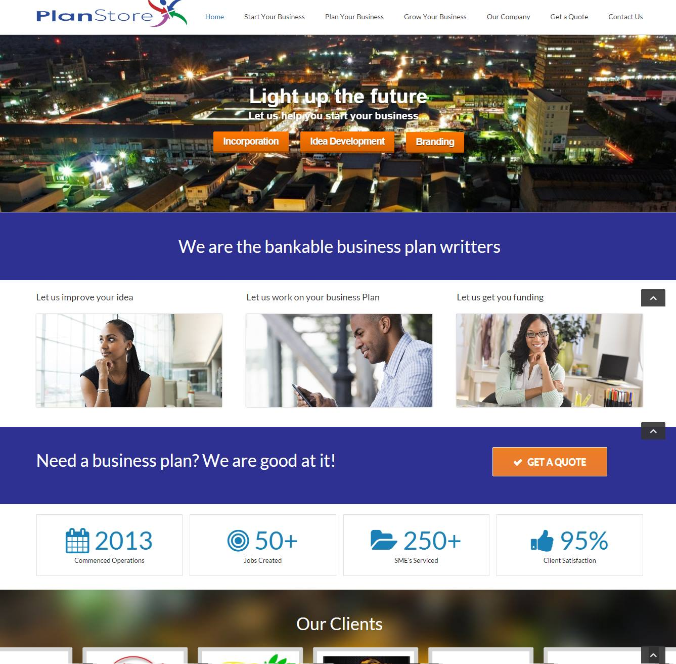 PlanStore Website